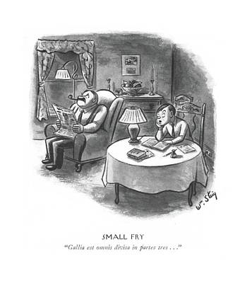 Latin Drawing - Small Fry  Gallia Est Omnis Divisa In Partes Tres by William Steig