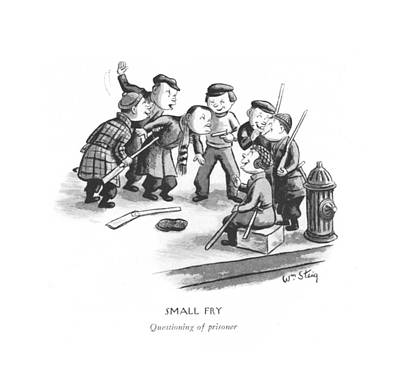 Small Fry Questioning Of Prisoner Art Print by William Steig