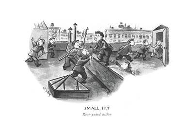 Fries Drawing - Small Fry Rear-guard Action by William Steig