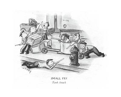 Small Fry Tank Attack Art Print