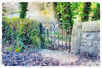 Small Bridges Digital Art - Small Gate In Ashford In The Water by Ann Garrett
