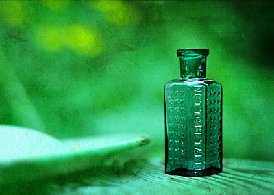 Small Green Poison Bottle Art Print