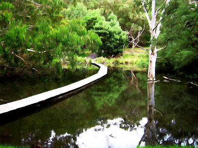 Australian Painting - Small Lake by Andrew Hunt