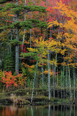 Marquette Wall Art - Photograph - Small Lake With Autumn Color by Chuck Haney