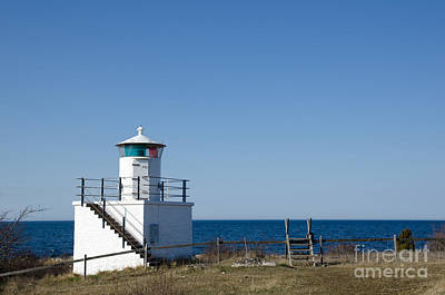 Photograph - Small Lighthouse At The Swedish Island Oland by Kennerth and Birgitta Kullman