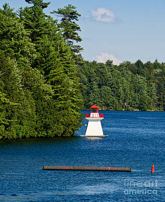 Photograph - Small Lighthouse by Les Palenik