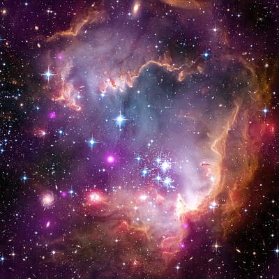 Roaring Red - The Small Magellanic Cloud by Nasa