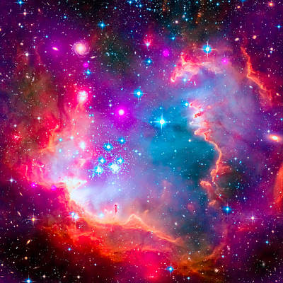 Digital Art - Small Magellanic Cloud - Smc Galaxy by Ram Vasudev