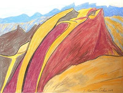 Drawing - Small Makhtesh by Esther Newman-Cohen