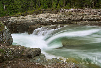 Photograph - Small Mcdonald Creek Fall by Charles Kozierok