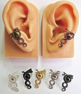 Small Metal Woven Ear Cuffs Original