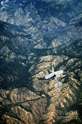 Photograph - Small Plane Flying Over Mountains by Jill Battaglia