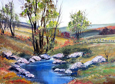Art Print featuring the painting Small Pond by Dorothy Maier