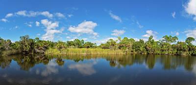 Small Pond In Alligator Creek Preserve Art Print