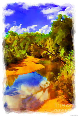 Photograph - Small River 4 - Digital Paint by Debbie Portwood