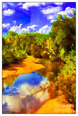 Photograph - Small River 5 - Digital Paint by Debbie Portwood