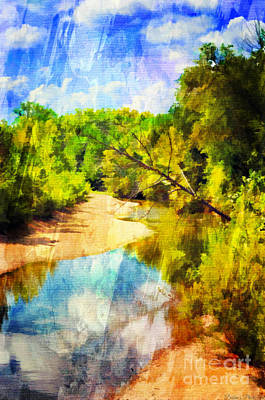 Photograph - Small River 6 - Digital Paint by Debbie Portwood