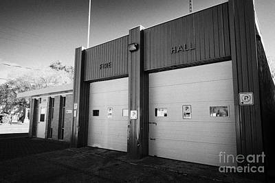 small rural fire hall and police station bengough Saskatchewan Canada Art Print by Joe Fox