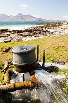 Self Photograph - Small Scale Hydro Turbine by Ashley Cooper