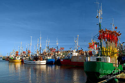 Commerce Photograph - Small Ships In A Charming Harbor by Michal Bednarek