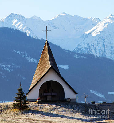 Ski Photograph - Small Shrine In The Mountains by Michal Bednarek