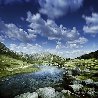Small Stream In The Mountains Of Pirin Art Print by Evgeny Kuklev