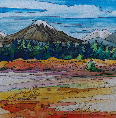 Small Sunriver Scene Art Print by Terry Holliday