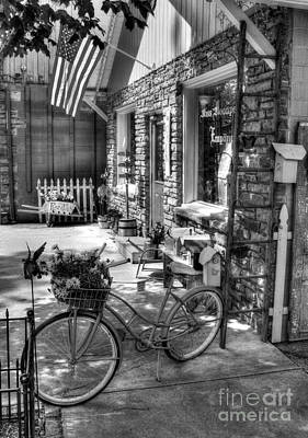 Photograph - Small Town America Bw by Mel Steinhauer