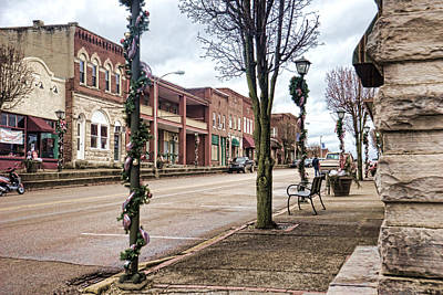 Photograph - Small Town Christmas by Sharon Popek