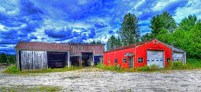Photograph - Small Town Garage by Jim Boardman