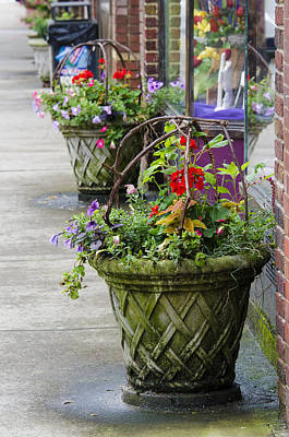 Photograph - Small Town Sidewalk by Carolyn Marshall