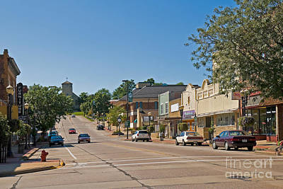 Crosswalk Photograph - Small Town Street by Richard and Ellen Thane