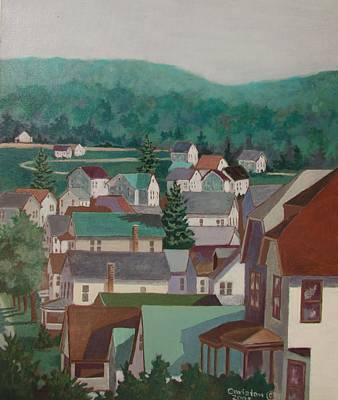 Painting - Small Town by Tony Caviston