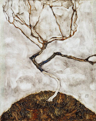 Autumn Landscape For Sale Painting - Small Tree In Late Autumn by Egon Schiele