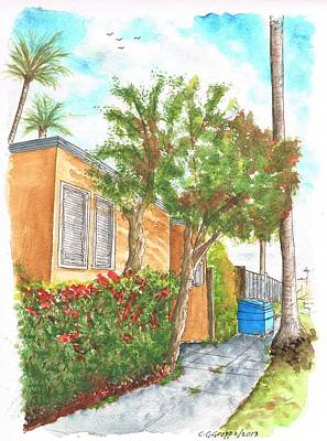 Small Trees In Homewood Ave - Hollywood - California Original by Carlos G Groppa