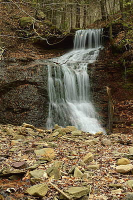 Photograph - Small Tributary Falls To Heberly Run #1 by Joel E Blyler