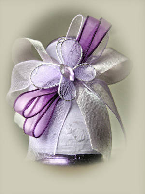 Photograph - Small Vase With Butterfly And Violet Ribbons by Vlad Baciu