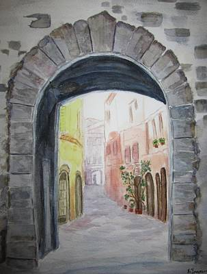 Small Village In Italy Art Print by Elvira Ingram