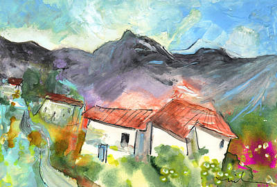 Small Village In The South Of France Art Print