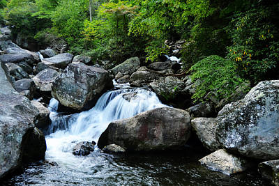 Photograph - Small Waterfall by Adam LeCroy