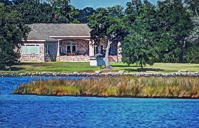 Photograph - Small Waterfront Home by Cathy Jourdan