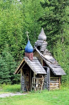 Russian Cross Photograph - Small Wooden Chapel At Saint Nicholas by Angel Wynn