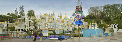 Bobsled Photograph - Small World Fantasyland Disneyland Panorama by Thomas Woolworth