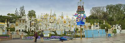 Toy Shop Digital Art - Small World Fantasyland Disneyland Panorama by Thomas Woolworth
