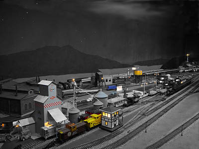 Photograph - Small World - Marshalling Yard by Richard Reeve