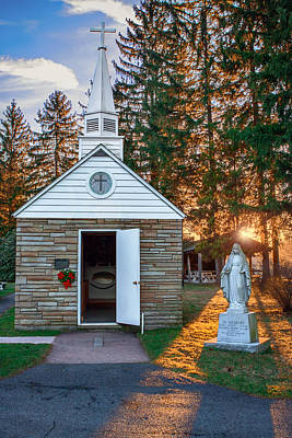 Photograph - Smallest Church by Mary Almond
