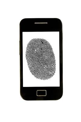 Smartphone With Finger Print Art Print by Victor De Schwanberg