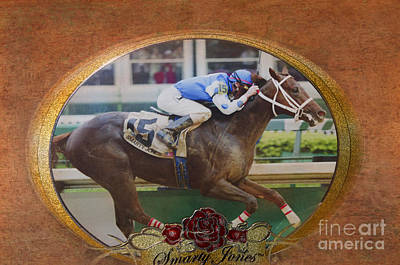 Smarty Jones Art Print by Betty LaRue