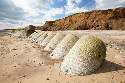 Smashed Concrete Sea Defences Print by Ashley Cooper