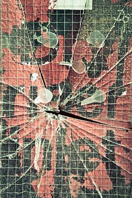 Smashed Glass Art Print by Tom Gowanlock